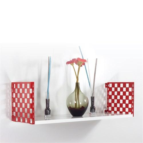 Decormet Satranç Raf ve Kitaplık Seti 25X72 Kırmızı-P.Beyaz
