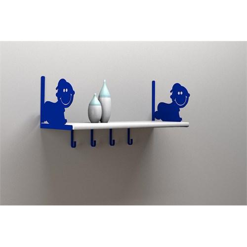 Decormet Bebek Raf ve Kitaplık Seti Mavi-P.Beyaz