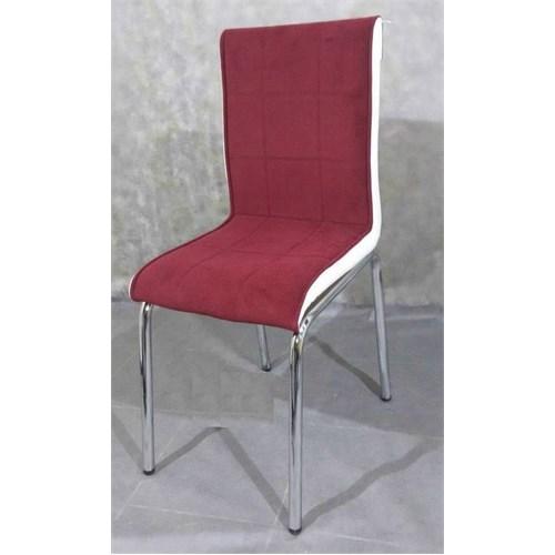 Mavi Mobilya Sandalye Bordo Kumaş (4 Adet)