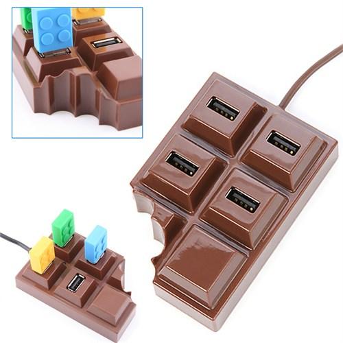 BlueZen Çikolata Tasarımlı Usb Çoğaltıcı 4 Port Usb 2.0 Hub