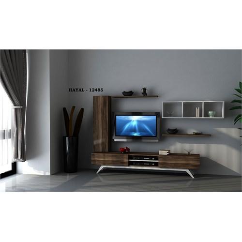 Hayal (12485) Tv Ünitesi-Leon Ceviz-Parlak Beyaz