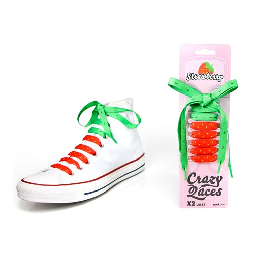 Suck Ukstrawberry Crazy Laces