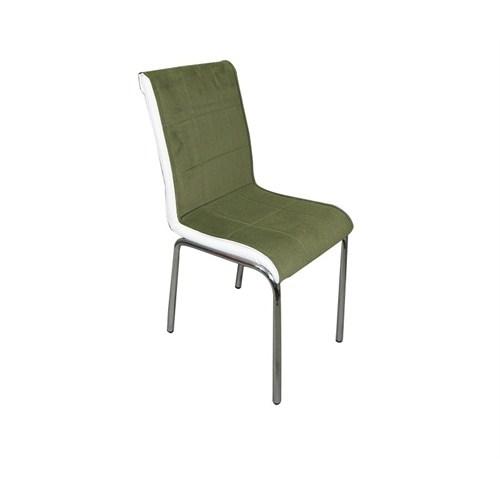 Mavi Mobilya Sandalye Yeşil Kumaş (4 Adet)
