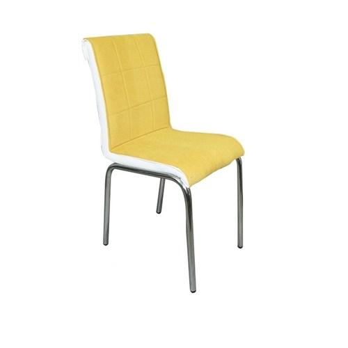 Sandalye Sarı Kumaş (6 Adet)
