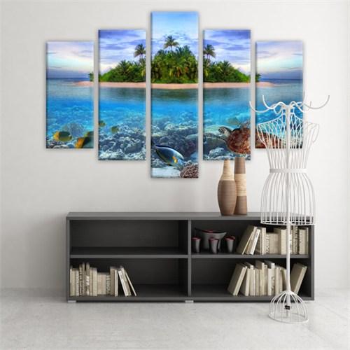 Dekoratif 5 Parçalı Kanvas Tablo-5K-Hb061015-63