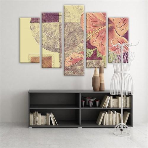 Dekoratif 5 Parçalı Kanvas Tablo-5K-Hb061015-71
