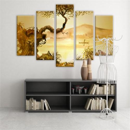 Dekoratif 5 Parçalı Kanvas Tablo-5K-Hb061015-80
