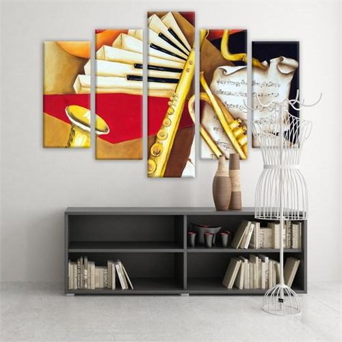 Dekoratif 5 Parçalı Kanvas Tablo-5K-Hb061015-173