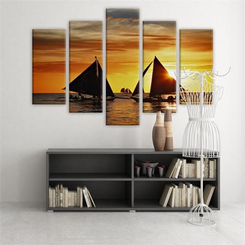 Dekoratif 5 Parçalı Kanvas Tablo-5K-Hb061015-216