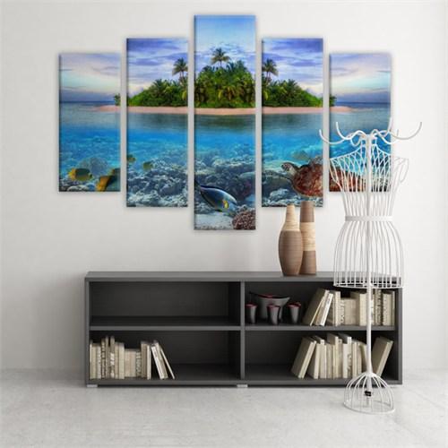 Dekoratif 5 Parçalı Kanvas Tablo-5K-Hb061015-226