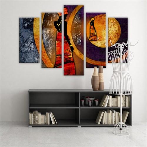 Dekoratif 5 Parçalı Kanvas Tablo-5K-Hb061015-231