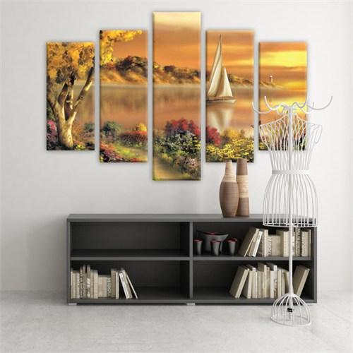 Dekoratif 5 Parçalı Kanvas Tablo-5K-Hb061015-244