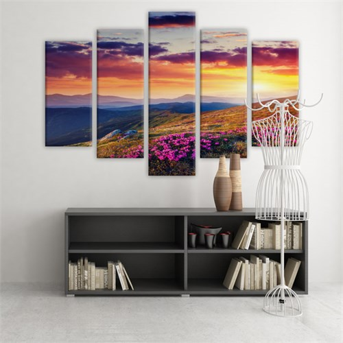 Dekoratif 5 Parçalı Kanvas Tablo-5K-Hb061015-273