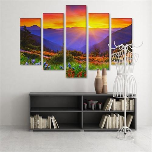 Dekoratif 5 Parçalı Kanvas Tablo-5K-Hb061015-311