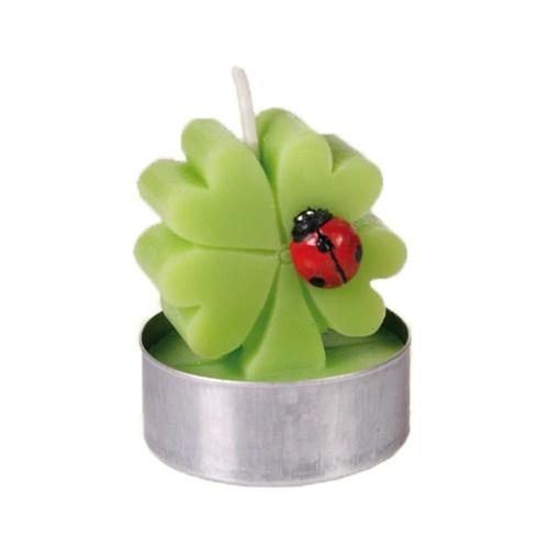 Out Of The Blue Yonca Ve Uğurböceği Mum Seti - Tealight Lucky Clover With Ladybug