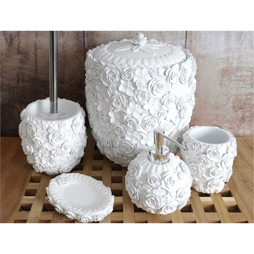 İrya Romantic Beyaz 5 Parça Banyo Set