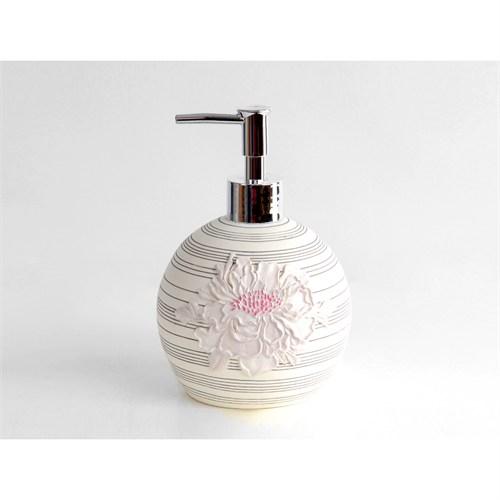 İrya Floral Pembe Sıvı Sabunluk
