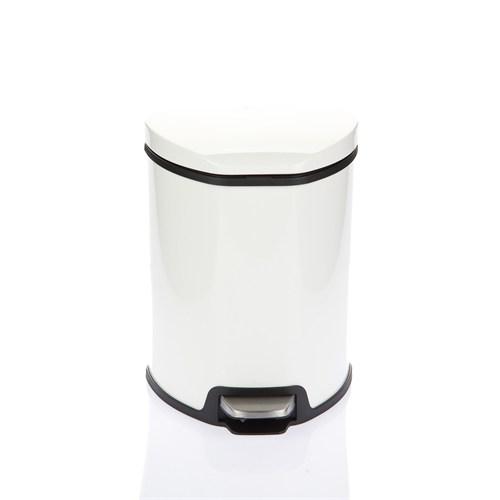 Primanova Çelik Pedallı Çöp Kovası Beyaz D-15317