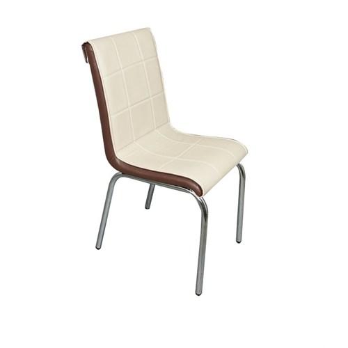 Mavi Mobilya Sandalye Cappuccino Suni Deri (4 Adet)