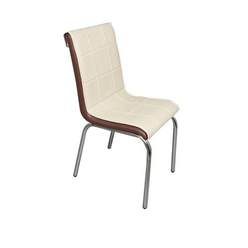 Mavi Mobilya Sandalye Cappuccino Suni Deri (6 Adet)