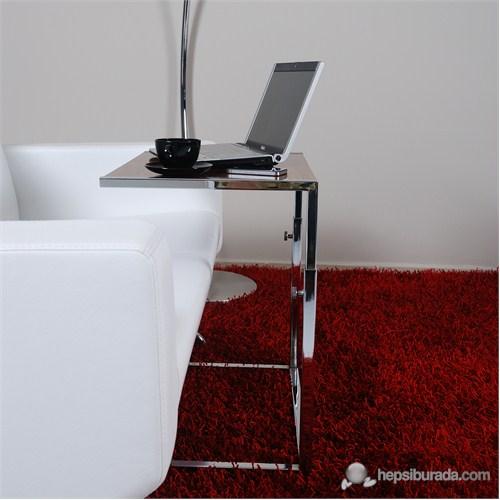 Bianca Dekoratif Laptop Sehpası Highgloss Ceviz