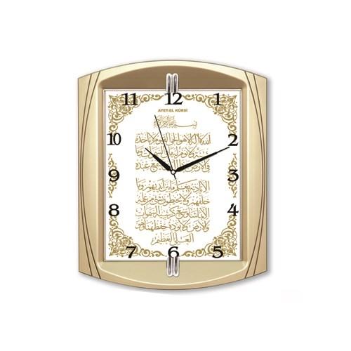 Time Gold Ayetli Duvar Saati Ayet'el Kürsi