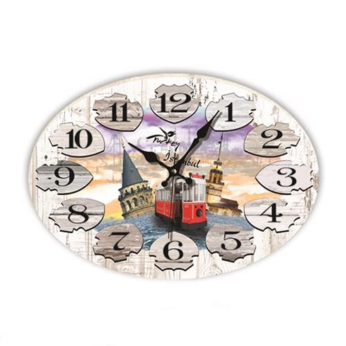 Time Gold Mdf Roma Rakamlı Duvar Saati İstanbul
