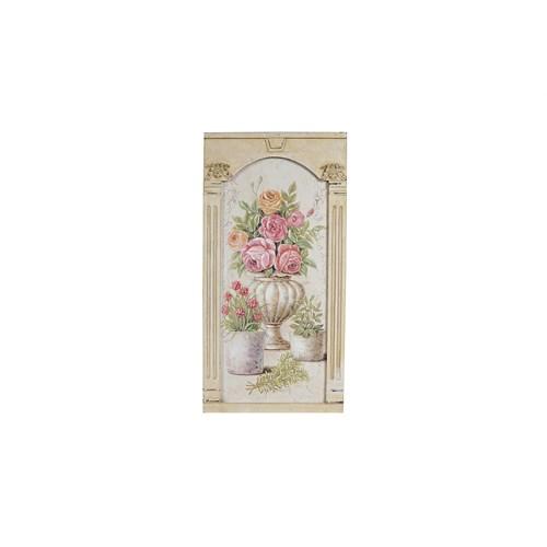 Noble Life Büyük Vazo İçinde Güller Tablo