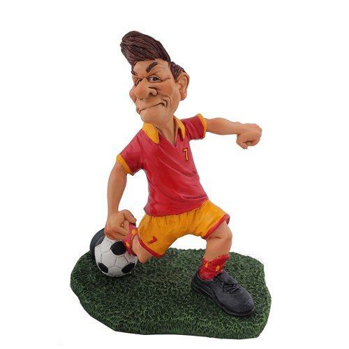 Sarı Kırmızı Futbolcu Figürlü Biblo