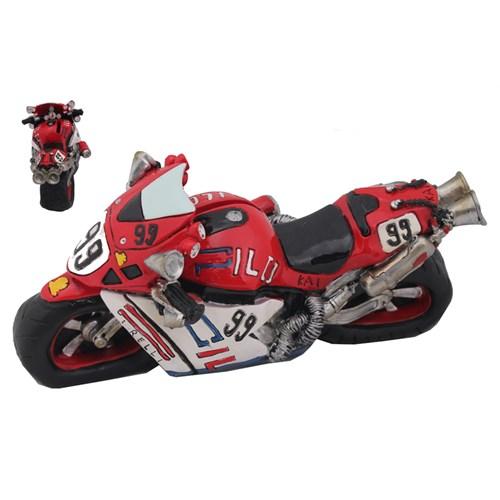 Kırmızı Yarış Motoru Figürlü Kumbara