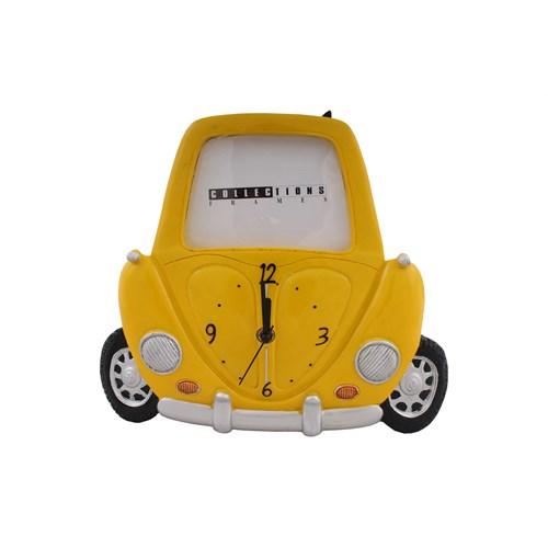 Sarı Araba Figürlü Saat