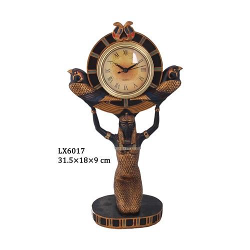 Antik Mısır İsis Figürlü Saat