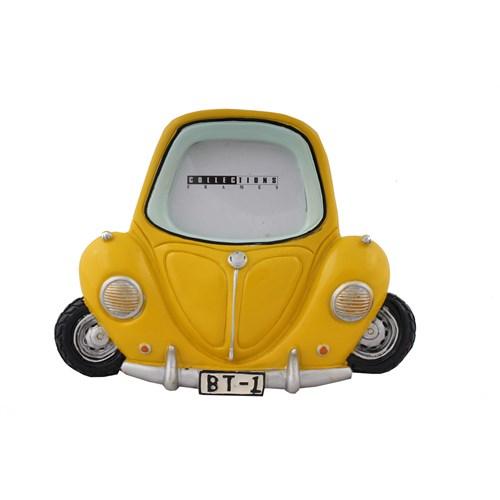 Sarı Araba Figürlü Fotoğraf Çerçevesi