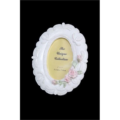 Çiçek Figürlü Oval Çerçeve