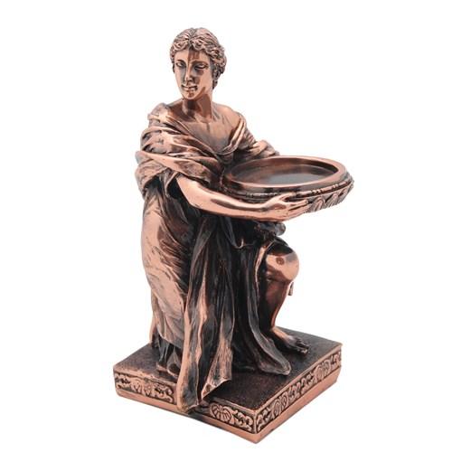 Eski Romalı Kadın Figürlü Şamdan