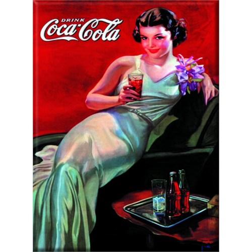 Karton Afiş - Coca-Cola Femme Tenue De Soıree 24 X 32 Cm