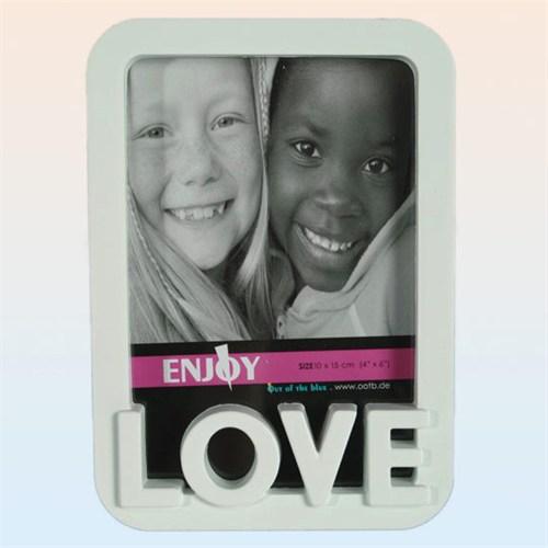 Ootbwhıte Plastıc Pıcture Frame - Love