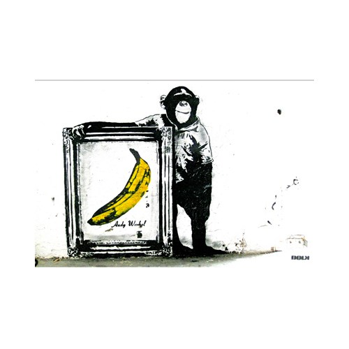 Urbangiftandy Warhol Ape Magnet 6*9 Cm