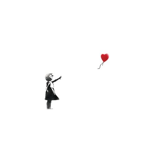 Urbangiftbanksy Balloon Gırl Whıte Photo Magnet 6*9Cm