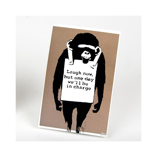 Urbangiftbanksy Laugh Now Magnet 6*9 Cm