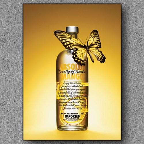 Tablom Votka Ve Kelebek Kanvas Tablo