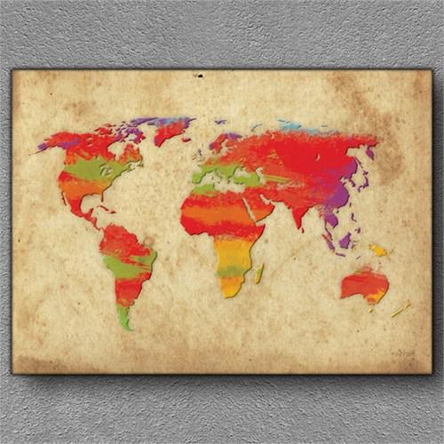 Tablom Dünya Haritası 1 Kanvas Tablo