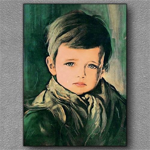 Tablom Ağlayan Çocuk Kanvas Tablo
