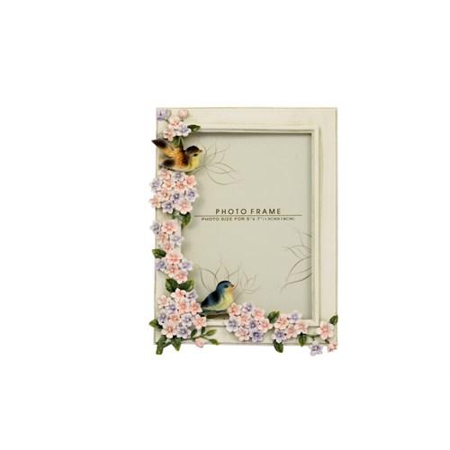 Fidex Home Kabartma Çerçeve-Çiçekli Ve Kuşlu