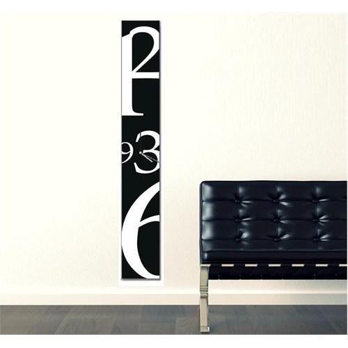 Tictac Dekoratif Kanvas 100 Cm Duvar Saati - Siyah