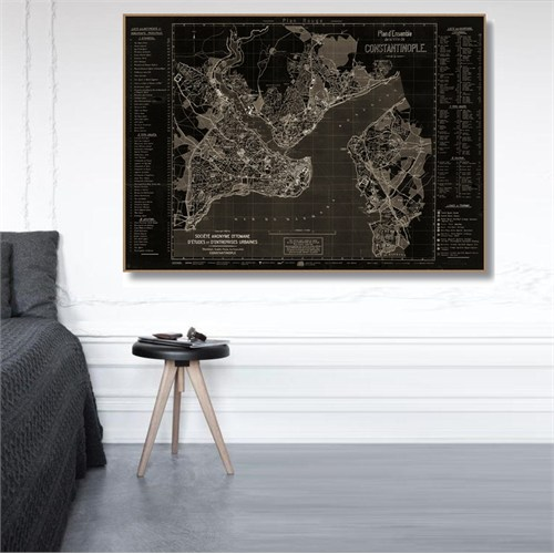 Tictac İstanbul Harita3 - Kanvas Tablo - Büyük Boy