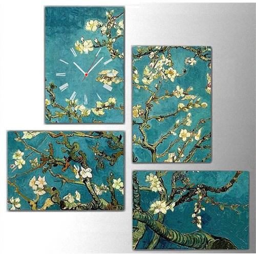 Tictac Van Gogh - 4 Parçalı Kanvas Saat