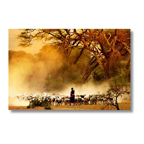 Tictac Afrika - Kanvas Tablo - Büyük Boy