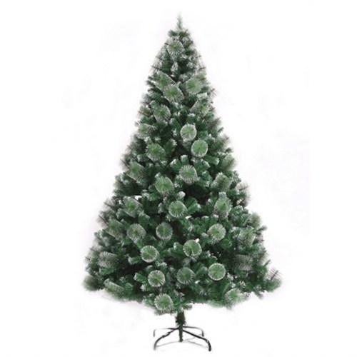 Yeşil Renk Beyaz Detaylı İğne Yapraklı Çam Ağacı 150 Cm