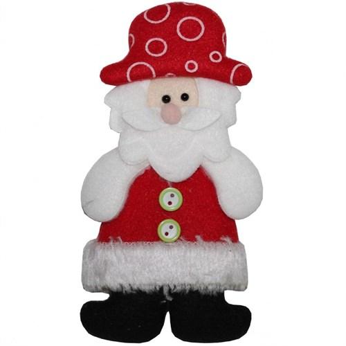 Düğmeli Noel Baba Dekoratif Yeniyıl Yumuşak Süs